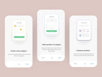 Onboarding For Product Rater App