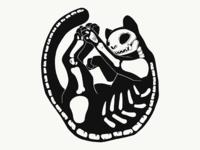 Black Cat Skeleton