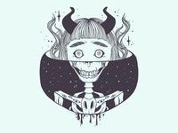 Skeleton Girl Vector Illustration