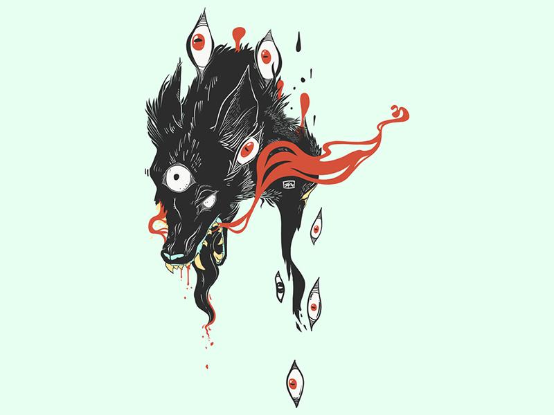 Vector Illusration digital art tshirt design illustrator vector illustration vector art vector drawing ipad artwork ipad art illustration apple pencil adobe draw magic wolf