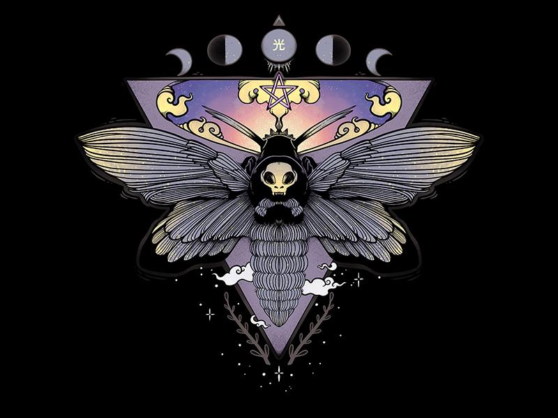 Death Head Moth Illustration mother skull butterfly bug death head hawk moth death head moth moth digital art tshirt design illustrator drawing ipad artwork ipad art illustration apple pencil