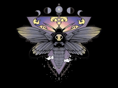 Death Head Moth Illustration mother skull butterfly bug death head hawk moth death head moth moth digital art tshirt design illustrator drawing ipad artwork ipad art illustration apple pencil