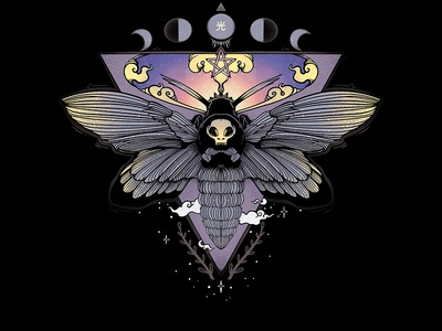 Death Head Moth Illustration strange digital art illustrator drawing ipad artwork ipad art illustration apple pencil wiccan witch witchy skull butterfly bugs moth death head hawk moth death head moth
