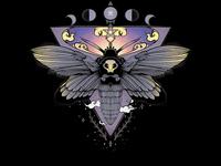 Death Head Moth Illustration