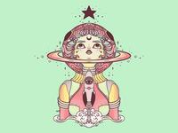 Astronaut Star Girl iPad Artwork