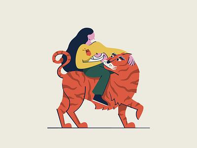 Tiger Baby vector illustration vector art vector tiger design graphic design illustration