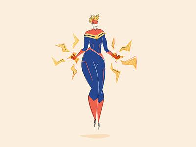 Captain Marvel design branding captain marvel superhero vector graphic design illustration