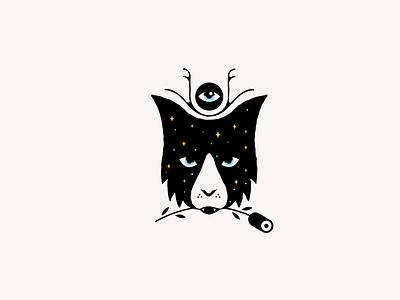 Bobcat with Rose branding design logo graphic design rose cat illustration