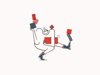 Christmas Shuffle vector logo branding design graphic design illustration
