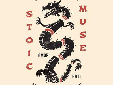 Amor Fati Dragon Graphic stoic quote amorfati seneca stoic philosophy seneca quote epictetus philosophyquotes marcus aurelius stoicism stoic