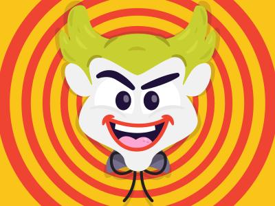 The man who laughs joker clown laughs dc illustration batman vector