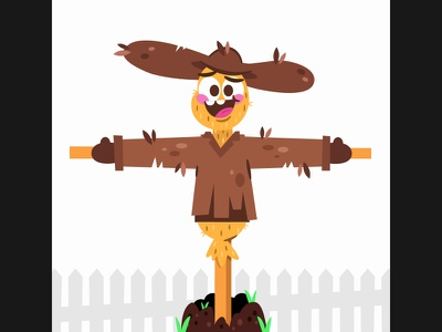 Billy character illustration vector billy scarecrow