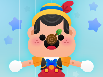Pinocchio  cute character walt disney disneyland disney pinocchio