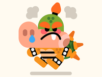 Angry baby Bowser
