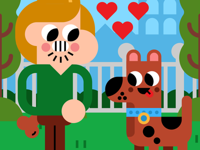 Best buds illustrator vector illustration shaggy character animal dog valentine love friends scooby doo