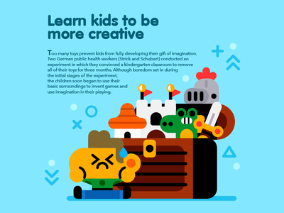 Learn kids to be more creative cute bright knight vector illustrator illustration child boy toys kids editorial