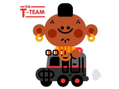 The T-team car kids illustration illustrator cute vector character kawaii mr.t television series a-team