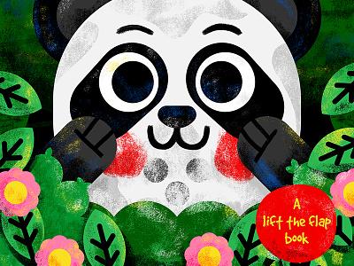 Peek-a-boo! reading book toddler animal illustration illustrator vector kids kidslit panda