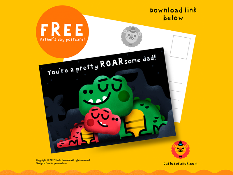 FREE! Father's Day postcard