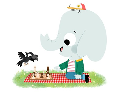 A game of Chess fun cute drawing kidslit animals illustrator illustration kids