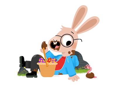 Easter break! bunny easter fun cute drawing kidslit animals illustrator illustration kids