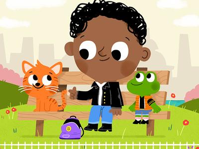 Park friends fun cute drawing kidslit animals illustrator illustration kids