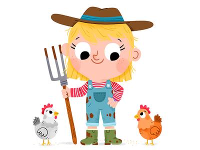 🐔👩🌾🐔 fun cute drawing kidslit animals illustrator illustration kids