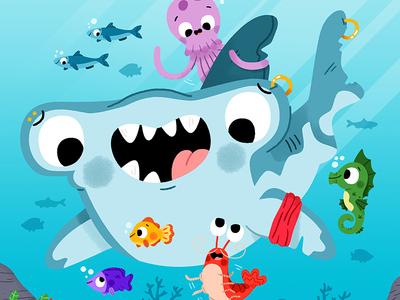 Sea life fun cute drawing kidslit animals illustrator illustration kids
