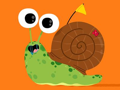 Shelldon the sluggish gastropod.. fun cute drawing kidslit animals illustrator illustration kids