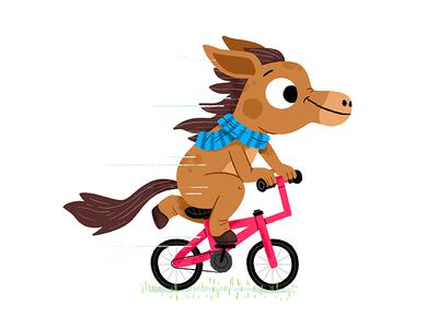 #illustratornightmare bike colour character drawing animals kidslit fun kids illustrator cute illustration