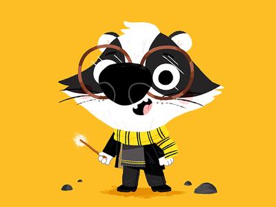 #hufflepuffpride colour animal drawing character animals kidslit fun kids illustrator cute illustration