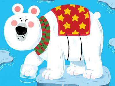 Ice ice baby animal book character drawing animals kidslit vector fun kids illustrator cute illustration