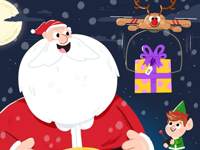 Tech-savvy Santa kawaii colour toddler book character drawing kidslit fun kids illustrator cute illustration