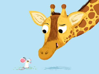 🐁🦒💜 mouse draw colour animal book character drawing animals kidslit fun kids illustrator cute illustration