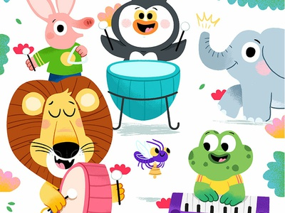 And a one, and a two, and a one, two, three... art characters read draw colour toddler animal book character drawing animals kidslit fun kids illustrator cute illustration