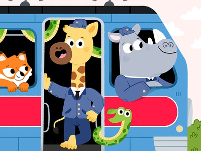 Choo choo! art characters draw kawaii colour toddler animal book character drawing animals kidslit fun kids illustrator cute illustration