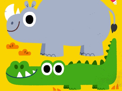 Bright animals character drawing animals vector kidslit fun kids illustrator cute illustration