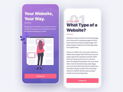 Website Building Agency illustration minimalist typography agency website agency website mobile responsive design modern ux ui