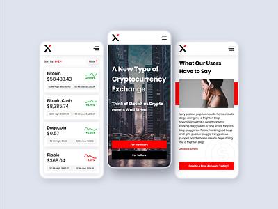 XChange Cryptocurrency Exchange - Light crypto wallet crypto money transfer banking design modern ux ui money app funds money