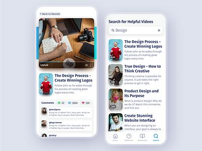 Designer Learning Platform modern ux ui social app learning management system teaching app classes learning platform learning app school learning video watch learn