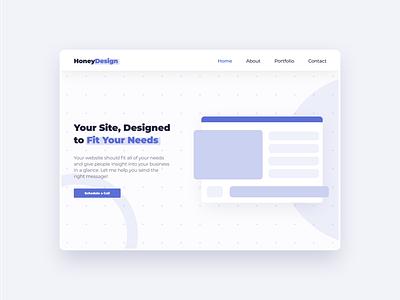 Website Designer blue abovethefold branding landing page home page modern ui landingpage landing website webdesign