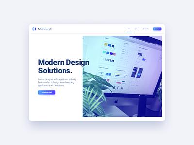 Portfolio Website for UI and UX Designer website design website whitespaces whitespace modern design branding landing home page design modern ux ui