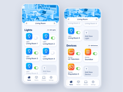 Smart Home Device Manager smart device device manager home app react native user friendly user experience easy to use user interface mobile app app illustration smart home design modern ux ui