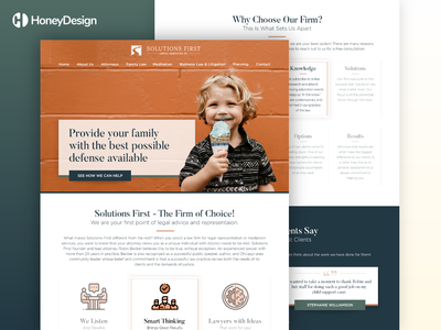 Solutions First landing page modern ux ui landing home page design minimalist lawyer logo law office law firm lawfirm lawyers lawyer children kids family portrait family law family