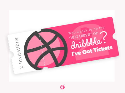 Two Dribble Invitations! illustration typography modern design ui uix ux ux challenge web design ticketing ticket icon design icon dribbble invite giveaway dribbble invitations dribbble invitation dribbble invites dribbble invite dribbble debut