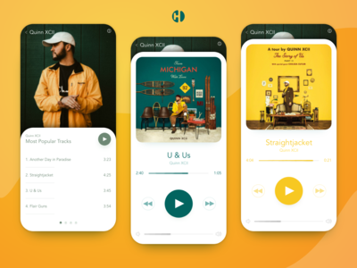 Music Player Mock Up