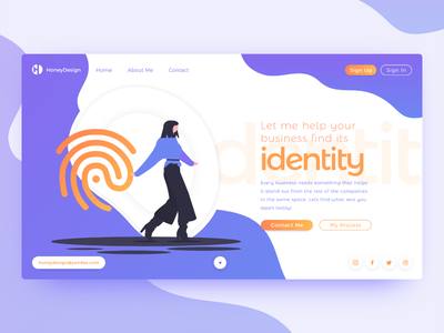 Business Identity contact me contact freelance freelancer purple website cms webflow landing landing page web designer designer