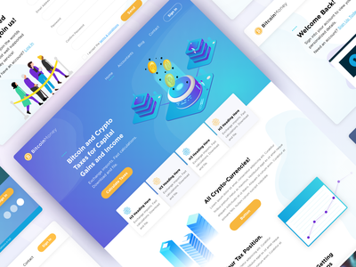 BitcoinMoney illustration ux ui modern home page landing money accounting bitcoin web design website design webdesign website