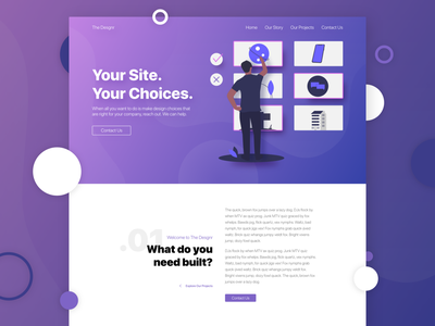 Desgnr vector abovethefold illustration modern ux ui landing page homepage website web design branding design agency website agency