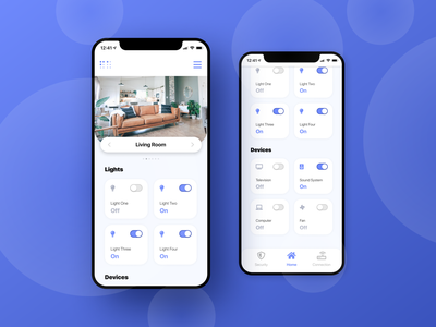 Smart Home Manager minimalist ux ui modern design smarthome home mobile ui app design